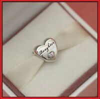 NEW Genuine Authentic Pandora Daughter Love Heart Charm Bead Silver s925 ALE UK
