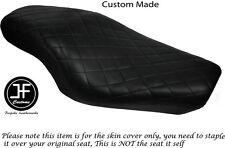 TWOTONE DIAMOND BLACK CUSTOM FOR HARLEY SPORTSTER 883 1200 DUAL VINYL SEAT COVER