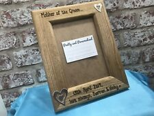 Personalised Photo Frame Wedding Thank You Gift Mother Father of The Bride Groom