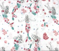 Lilly Love Collection Mermaid Seashells Pink Aqua Coral Full 4 pc Sheet Set New