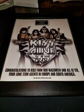 KISS International Talent Booking Rare Original Promo Poster Ad Framed!