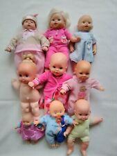 Lot of 9 Vtg Baby Dolls~Citi/Toy Mattel Fisher Price ~ 3 Blankets ~ 1 Doll Cries