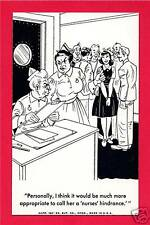 Nurse Doctor Humor Exhibit Supply Comic Vending Card #7