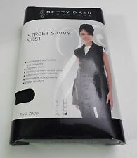 NEW BETTY DAIN STREET SAVVY VEST L LARGE BLACK 3900 SMOCK CAPE HAIRDRESSER SPA