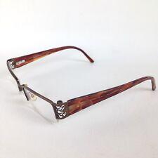 Takumi Womens T9882 RX Eyeglasses 50/17/135 Bronze Heart Detail Flex Temple