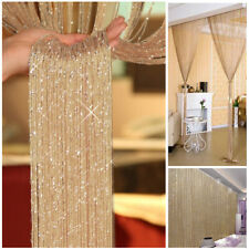 Gold Tassel String Door Curtain - Gold Metallic Sparkly Party Backdrop Room