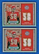 DERRICK THOMAS (2) LOT GU JERSEY REFRACTOR Rookie 89) 2001 Topps Archives Chiefs