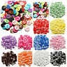 100pcs Lots mix Assort Plastic Buttons Scrapbooking Sewing Craft Appliques 15mm