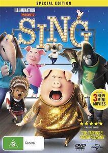 Sing (DVD, 2017), NEW SEALED REGION 4 AUSTRALIAN RELEASE