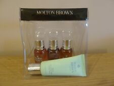 MOLTON BROWN Dewy Lily of Valley hand cream full size & shower gels NEW & Pouch