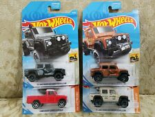 2019 Hot Wheels LAND ROVER SERIES III TRUCK & '15 LAND ROVER DEFENDER DOUBLE CAB