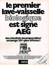 PUBLICITE ADVERTISING 064  1970  AEG    lave vaisselle biologique