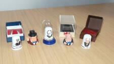 More details for aq523: small collection of winston churchill thimbles - porcelain & pewter x 5