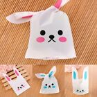 New Self Adhesive Cute Rabbit Ear Cookie Bags Plastic Packaging Bags 50 Pieces