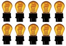 3157NA Amber Daytime Running Light Bulbs Stop Brake Turn Signal Lamp 3157 x10