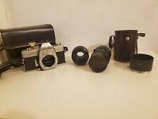 Minolta SRT 101 SLR Film Camera w/ 50mm and 135mm Lenses and Cases!