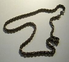 Necklace gold tone metal chain with twist design very simple and pretty 40cm