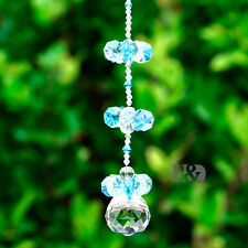 30mm Clear Facet Ball Pendant Part Garden Hanging Decor Sun Catcher Feng Shui