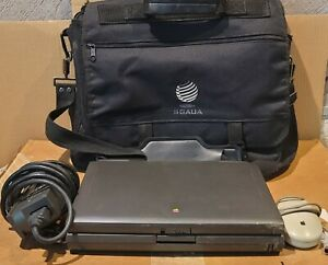 VINTAGE RARE 1995 APPLE POWERBOOK 5300CS TESTED WORKING W/ ADAPTER CASE & MOUSE!