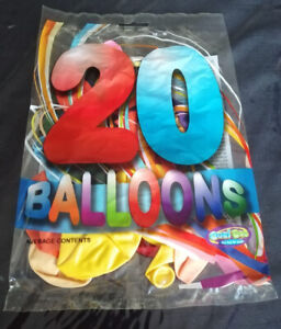20 Assorted Coloured Balloons Party Birthday kids fun all occasions