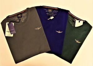 Pullover Crewneck Shirt Aeronautica Militare Man MA900L226 Grey Green Blue