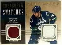2014-15 Trevor Linden Artifacts Treasured Swatches Blue Jersey #TS-TL Canucks