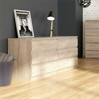 Tvilum Scottsdale 6 Drawer Double Dresser in Truffle