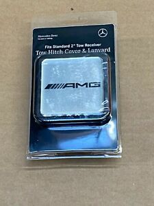 """Mercedes-Benz Genuine AMG 2"""" Tow Hitch Receiver Plug Cover & Lanyard NEW G ML GL"""