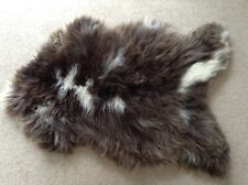 GENUINE SHEEPSKIN RUG (MIX OF BROWNS GREY AND WHITE) - LARGE