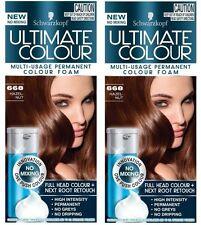 2 X Schwarzkopf Ultimate Multi Usage Permanent Hair Colour Foam 668 Hazel Nut