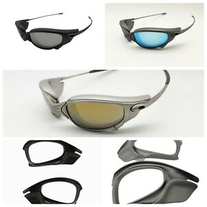 Replacement Side Blinders for Oakley Juliet sunglasses Double x metal Gray black