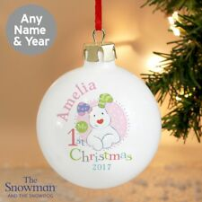 NEW The Snowman and the Snowdog In Pink Year Bauble Gift Present P0305G58