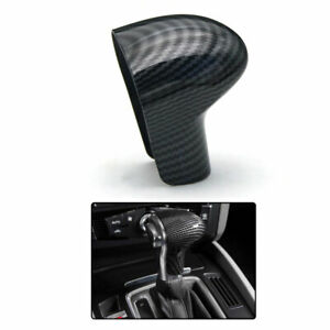 Vehicle Gear Shift Knob Cover Carbon Fiber Stickers Trim Decal For Audi A5 Coupe