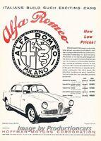 1961 Alfa Romeo Giulietta Coupe  - Original Advertisement Print Art Car Ad J682