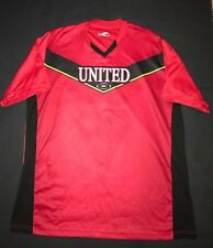 Boys Manchester United FC Red Dry Fit Soccer Jersey Youth Size Large L