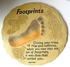 Spoontiques Footprints Stepping Stone or Hanging Plaque Decorative Stone