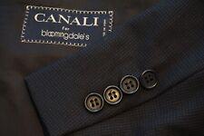 Canali Solid Blue Woven 100% Wool Sport Coat Jacket Sz 44S