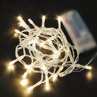 10 LEDs Warmweiß Weihnachten Party Hochzeit Batterie LED Lichterkette 1M Kette
