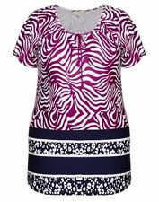AUTOGRAPH TOP MULTI-COLOURED COLD SHOULDER TUNIC TOP, Plus Size 16 NWT (#1222)