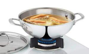 Borosil Stainless Steel Kadhai 1.9 Litres Silver Best Kitchen Appliances