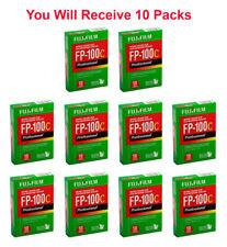 (10 Packs) Fujifilm Fuji FP-100C Instant Film 10 Exposures Color FP100C 10/2018