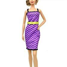 Barbie Light Purple Chevron Pattern Fashion Dress only Universal Fit  NO DOLL