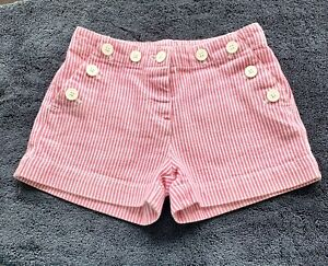 Joules Pink White Stripe Shorts Age 3