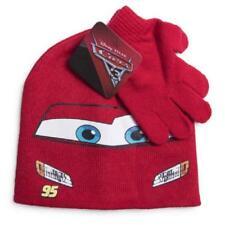 Disney Pixar  Hat Cars Lightning McQueen Soft Knit Beanie Cap Glove Set New