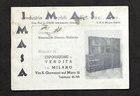 Pubblicità Arredamento - Brochure Imas - Stabilimento Cesano Maderno - anni '40