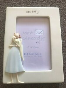 DEMDACO ANGEL AND BABY PICTURE / PHOTO FRAME 'MOST SINCERELY' NEW BABY GIFT BNIB