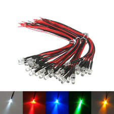 5pcs 3/5mm Ultra Bright Pre-Wired Flashing LED 3-48V White Blue Green Red Yellow