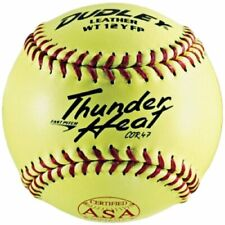 """Dudley Asa/Nfhs Dual Stamp Thunder Heat Yellow Leather Cover, Red Stitch, 12"""""""