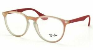 NEW RAY BAN MATTE RED/ GRAY ROUND AUTHENTIC EYEGLASSES RX RB 7046 5485 51-18 140
