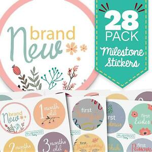 Monthly Baby Stickers - Floral Pack - 28 First Year Girl Milestone Stickers